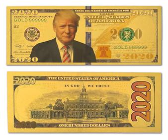 President Trump 2020 24K Gold Plated $2020 Novelty Bill