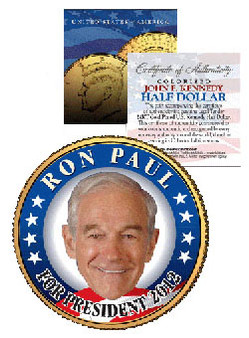 Ron Paul for President 2012 JFK Half Dollar