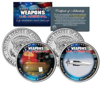 U.S. Weapons Arsenal - Bombs JFK Half Dollar 2 Coin Set