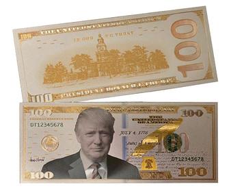 President Trump 24K White Gold $100 Novelty Bill