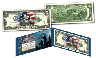 Special Forces Defenders of Freedom Air Force Commemorative Colorized $2 Bill