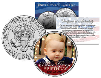 Prince George Royal Baby * 1st Birthday * Colorized JFK