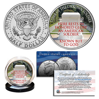 Tomb Of The Unknown Soldier Arlington National Cemetery JFK Half Dollar