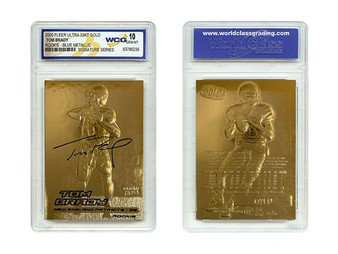 Tom Brady 2000 Fleer Ultra 23K Gold Rookie Card Metallic Signature Series Gem Mint 10