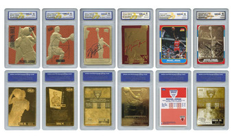 1996-1998 Michael Jordan 6 Card Set Graded Gem Mint 10
