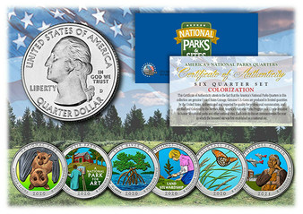 Colorized National Parks 2020/2021 6 Coin Set