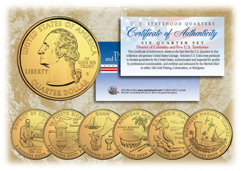 2009 24K Gold Plated Territory Quarters