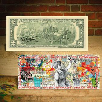 Frontline Workers Banksy Game Changer World Regions Pop Art $2 Bill LTD of 220