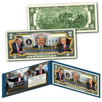 Donald Trump 45th President MADE AMERICA GREAT AGAIN 603 Accomplishments $2 Bill