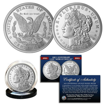100th Anniversary of the final Morgan Silver Dollar Tribute Coin