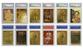 Tom Brady Mega-Deal Licensed Cards - All Graded Gem Mint 10 - Set Of 6