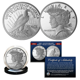 100th Anniversary of the first Peace Silver Dollar 1921-2021 Tribute Coin