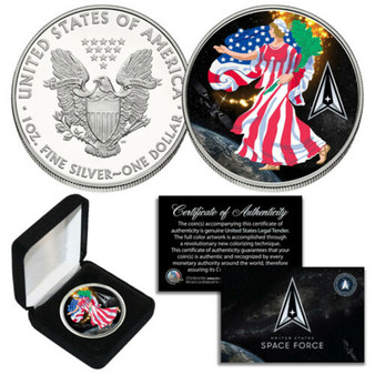 Space Force USSF Americana Lady Liberty 1 Oz. .999 Silver American Eagle