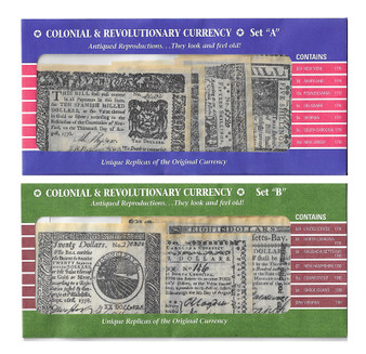 2 Sets of Reproduction Colonial Banknotes