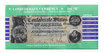 Confederate States Reproduction Bills Set B
