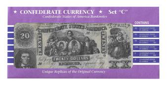 Confederate States Reproduction Bills Set C