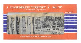 Confederate States Reproduction Bills Set D