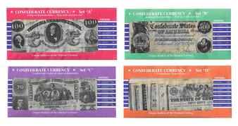 Confederate Note Reproductions - all 4 Sets