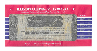 Illinois Currency Reproductions 1838-1852