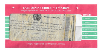 California Currency Reproductions 1782-1879