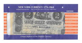 New York Currency Reproductions 1776-1864