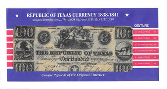 Republic of Texas Currency Reproductions 1838-1841