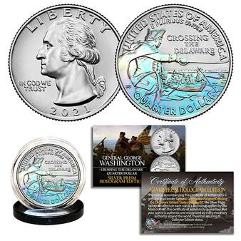 2021 Washington Crossing the Delaware Hologram Quarter