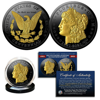 100th Anniversary of the final Morgan Silver Dollar 1921-2021 Ruthenium & Gold Tribute Coin