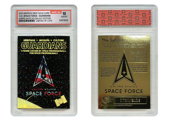 Space Force USSF USA Flag Hologram Galaxy Gold Rookie Card S/N 2019 Gem-Mint 10
