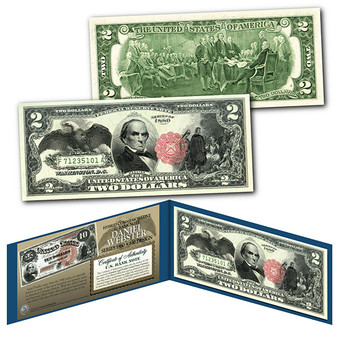 1880 Series $10 Daniel Webster Hybrid Banknote designed on modern $2 Bill