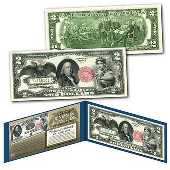 1880 Series $50 Benjamin Franklin Hybrid Banknote designed on modern $2 Bill
