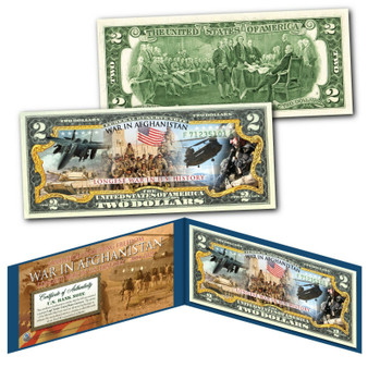War In Afghanistan The Longest War in U.S. History Colorized $2 Bill
