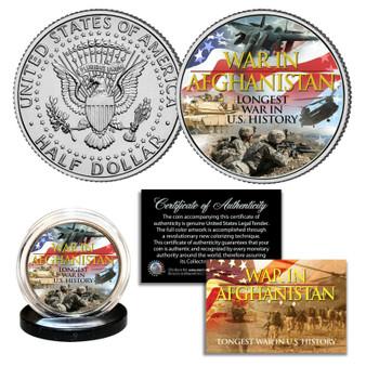 War In Afghanistan Longest War in U.S. History 2021 JFK Half Dollar