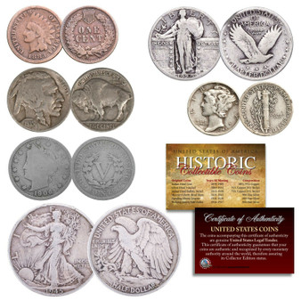 Historic 6 Coin Set of Circulated Coins