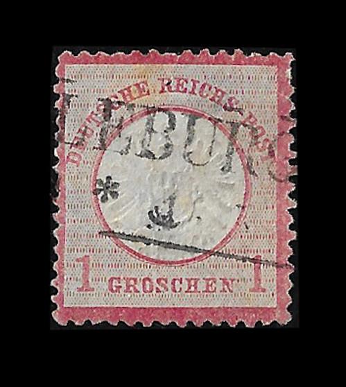 1872 #19 Large Shield 1 Groschen Cancelled