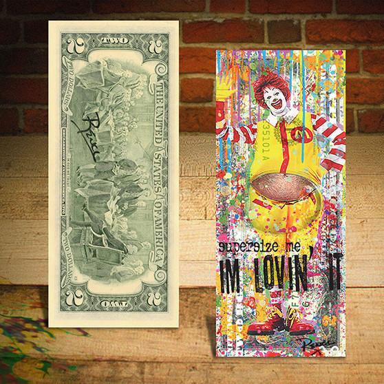 Rency Art McDonald's I'm Lovin It Hand Signed