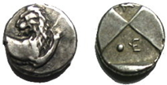 Ancient Greek Silver Hemidrachm From Chersonesos 480-350 BCE