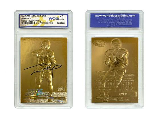 Tom Brady 2000 Fleer Ultra 23K Gold Rookie Card Refractor Signature Series Gem Mint 10