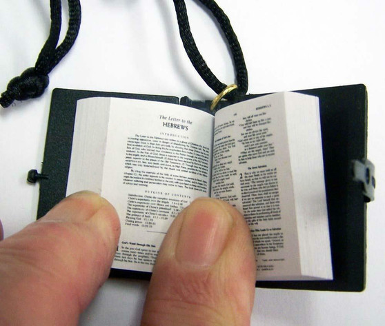 Micro Holy Bible Necklace