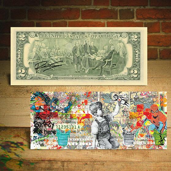 Frontline Workers Banksy Game Changer World Regions Pop Art $2 Bill