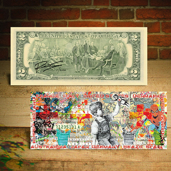 Frontline Workers Banksy Game Changer World Regions Pop Art $2 Bill LTD of 220