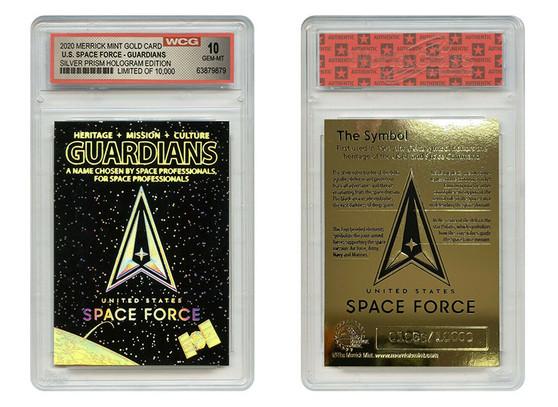 Space Force USSF Silver Prism Hologram Guardians Gold Rookie Card - Gem-Mint 10