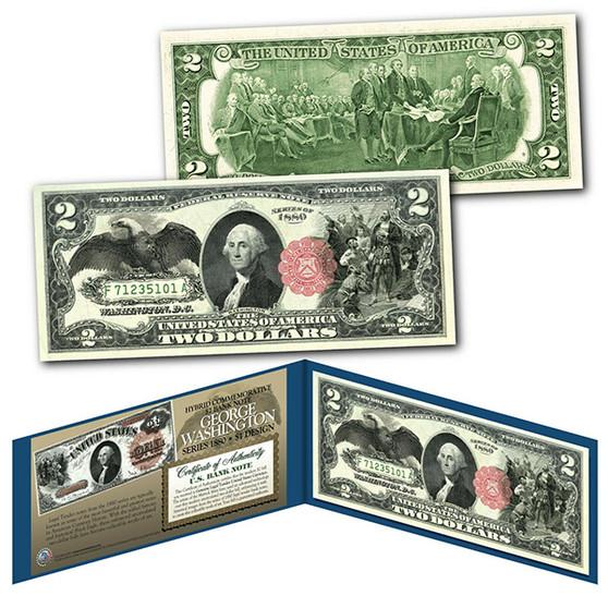 1880 Series $1 George Washington Hybrid Banknote designed on modern $2 Bill