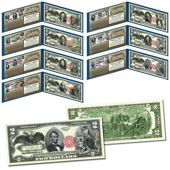 1880 Series Bank Notes Hybrid Commemorative Black Eagle Set of 7 Modern $2 Bills