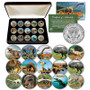 Dinosaurs Colorized JFK Half Dollar 15 Coin Set in Display Box