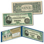1862 Salmon Chase Civil War Treasury $1 Banknote Design on Modern $1 Bill