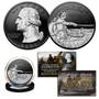 2021 Washington Crossing Delaware Quarter .999 Silver on Black Ruthenium