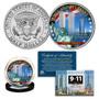2021 World Trade Center 9/11 20th Anniversary Colorized JFK Half Dollar