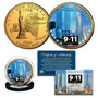 2021 World Trade Center 9/11 20th Anniversary 24K Gold Plated & Colorized Quarter