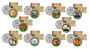 Set of all 10 Colorized JFK Half Dollar Animal Kingdom Coins